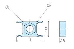 画像1: MZ型サイドフレーム用固定ナット